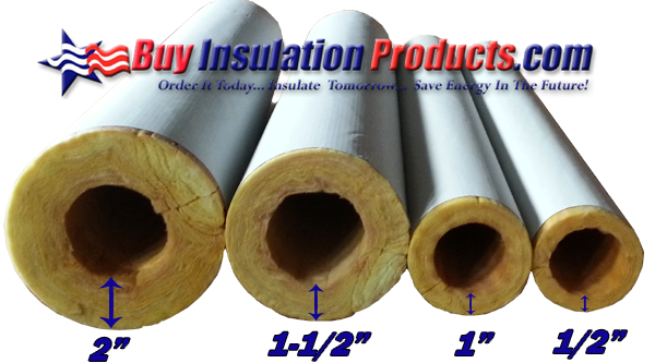 Pipe insulation thickness guide for Water line pipe material